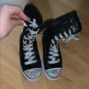 Sketchers Hightop Glitter Sneakers